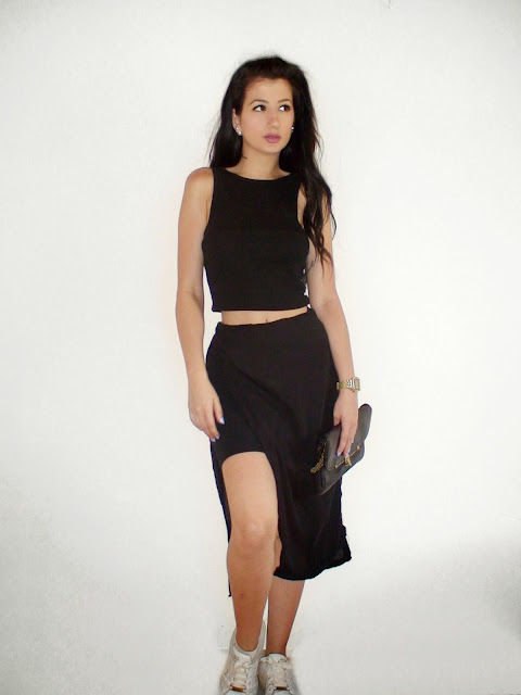 total black outfit ideas pinterest diy skirt