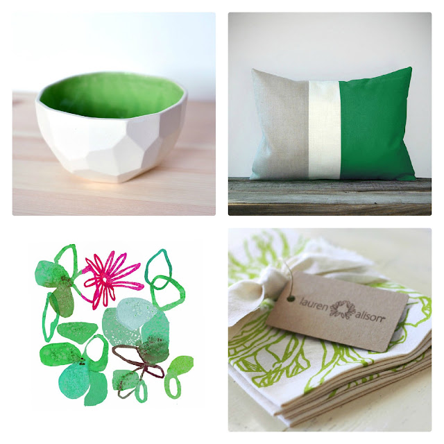 home decor finds in emerald