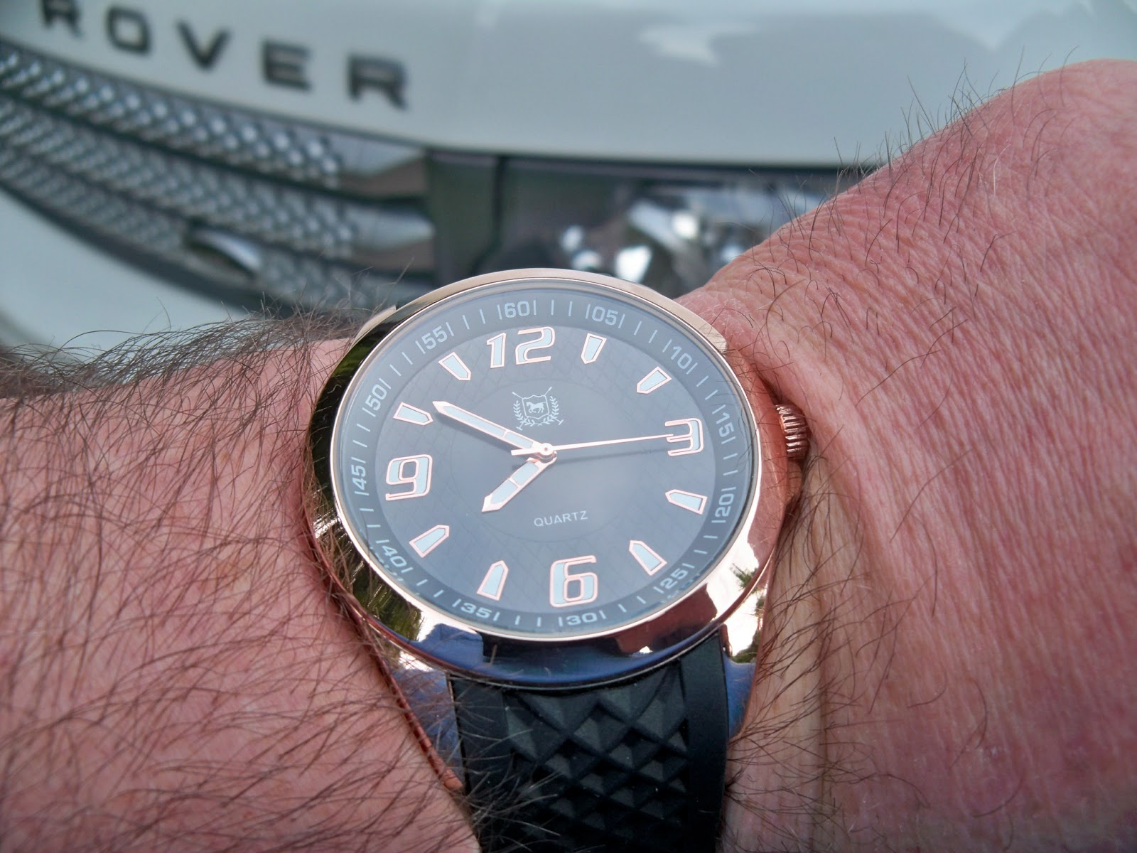 the watch dude wristwatch review thre3 mens sport watch in rose this thre3 watch looks a little classier than its 24 99 price tag it has a 12 millimeter thick base metal case a rose gold tone atop an etched