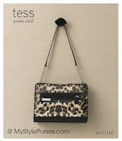Miche Bag Tess Petite Shell, Leopard Purse