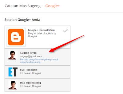 Tautkan lagi ke Google+