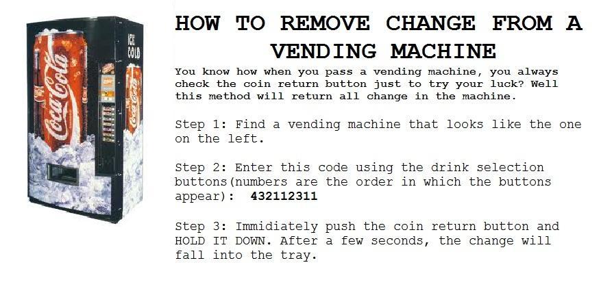 vending machine codes