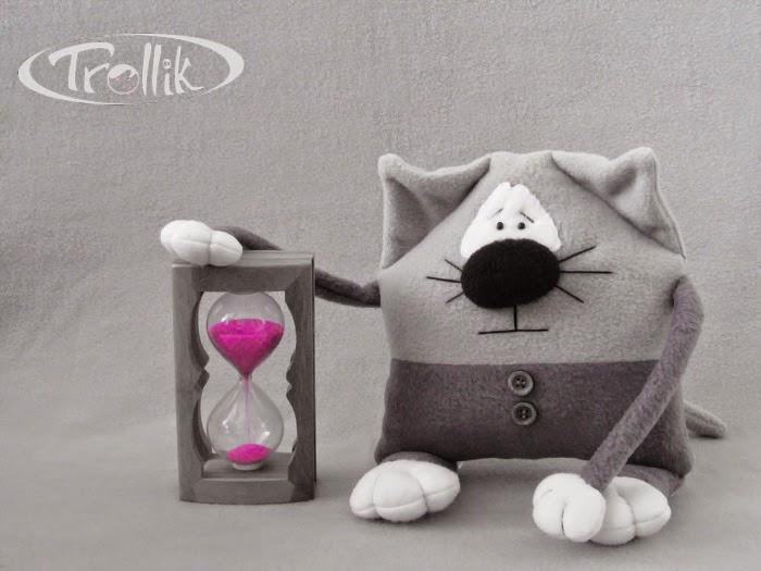 кот мягкая игрушка подушка из флиса
