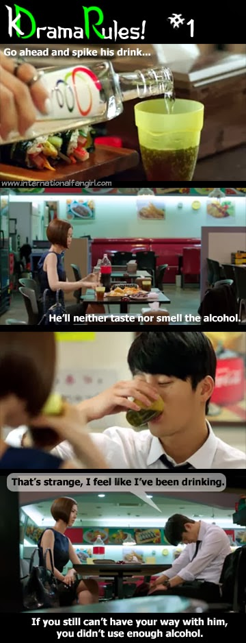 Tae Yi Ryung spikes Kang Woo's drink on Master's Sun