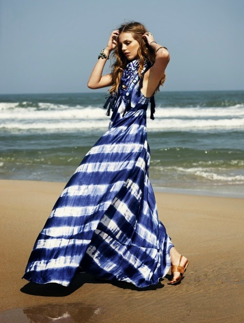 Stripes #dress #blue #white #fashion