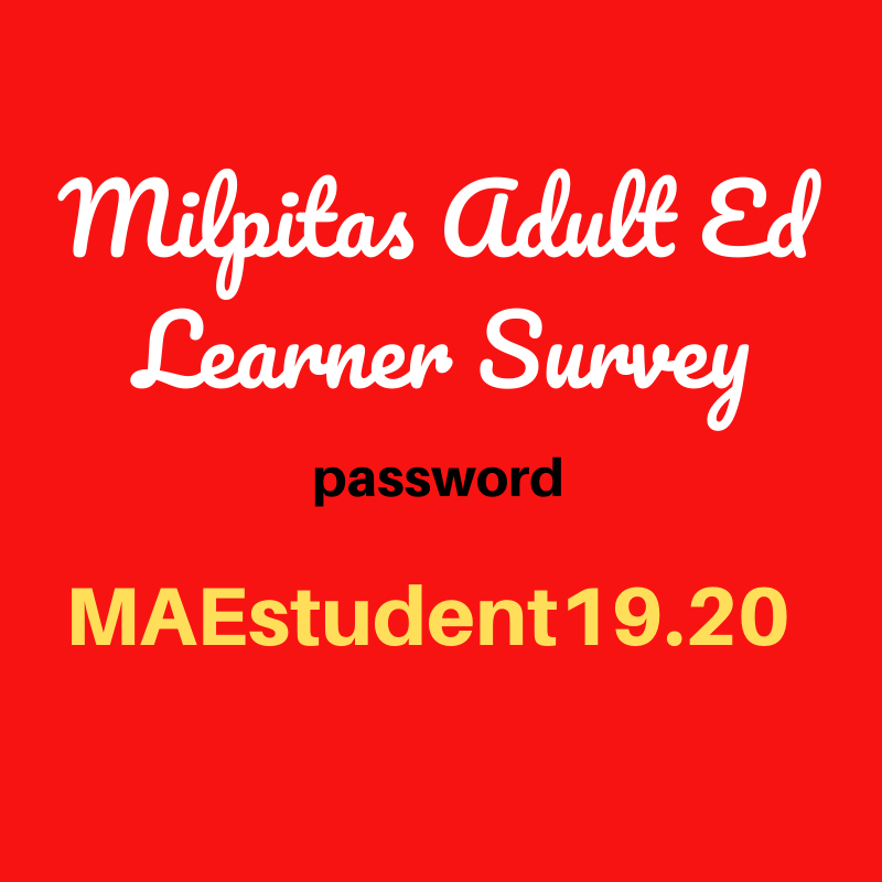 MAE Learner Survey