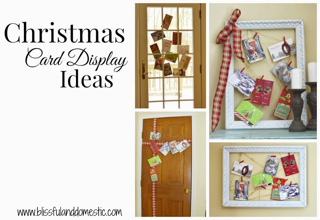 Christmas Card Display Ideas: Using What You Have