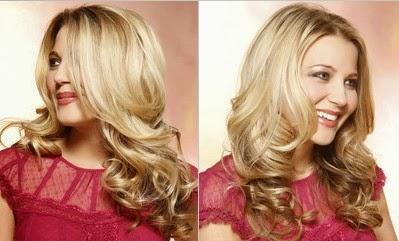 Model Rambut Keriting Gantung Untuk Wajah Bulat