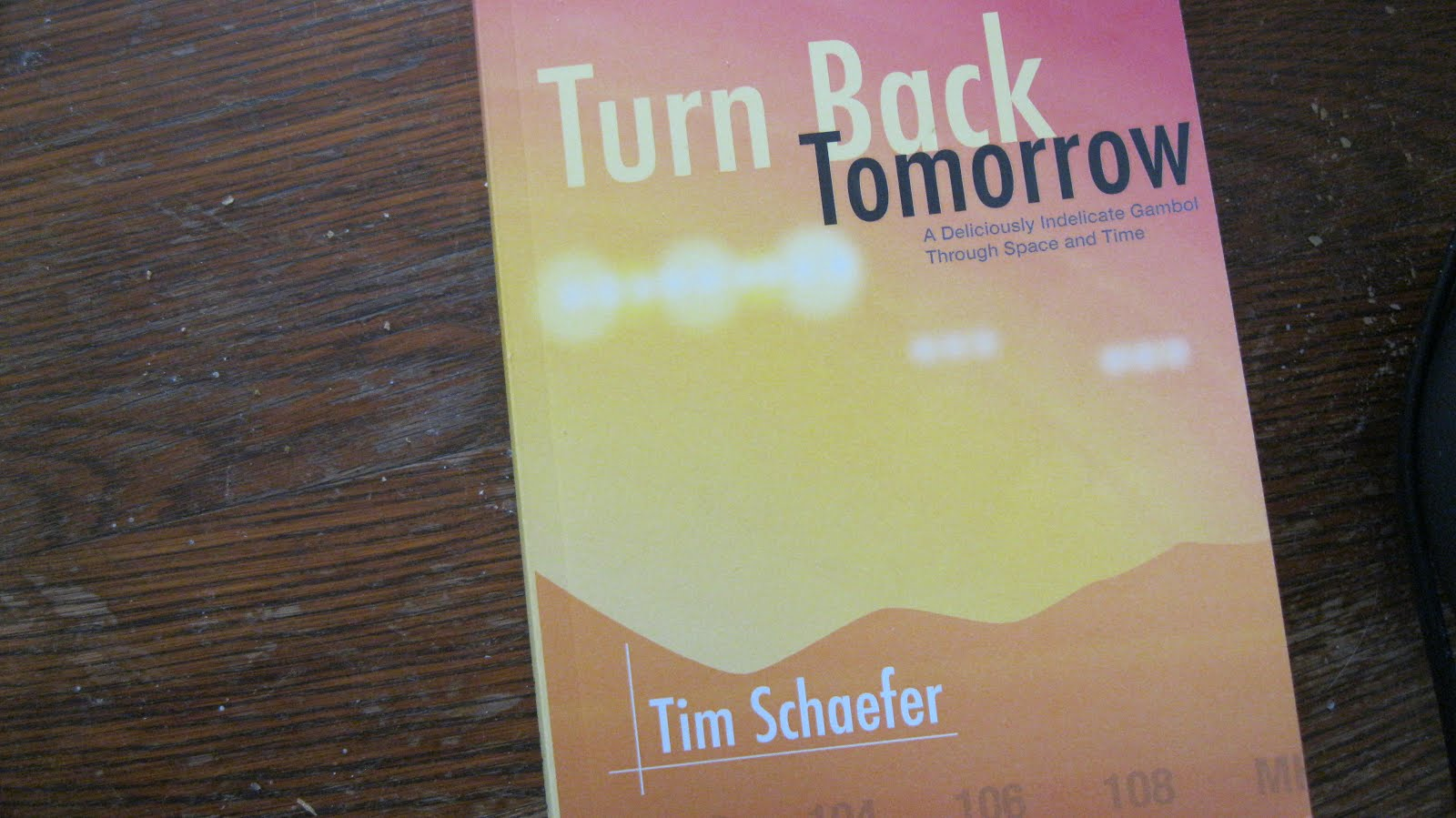 TIMMY'S NEW BOOK IS OUT--TURN BACK TOMORROW--AVAILABLE FROM AMAZON.COM