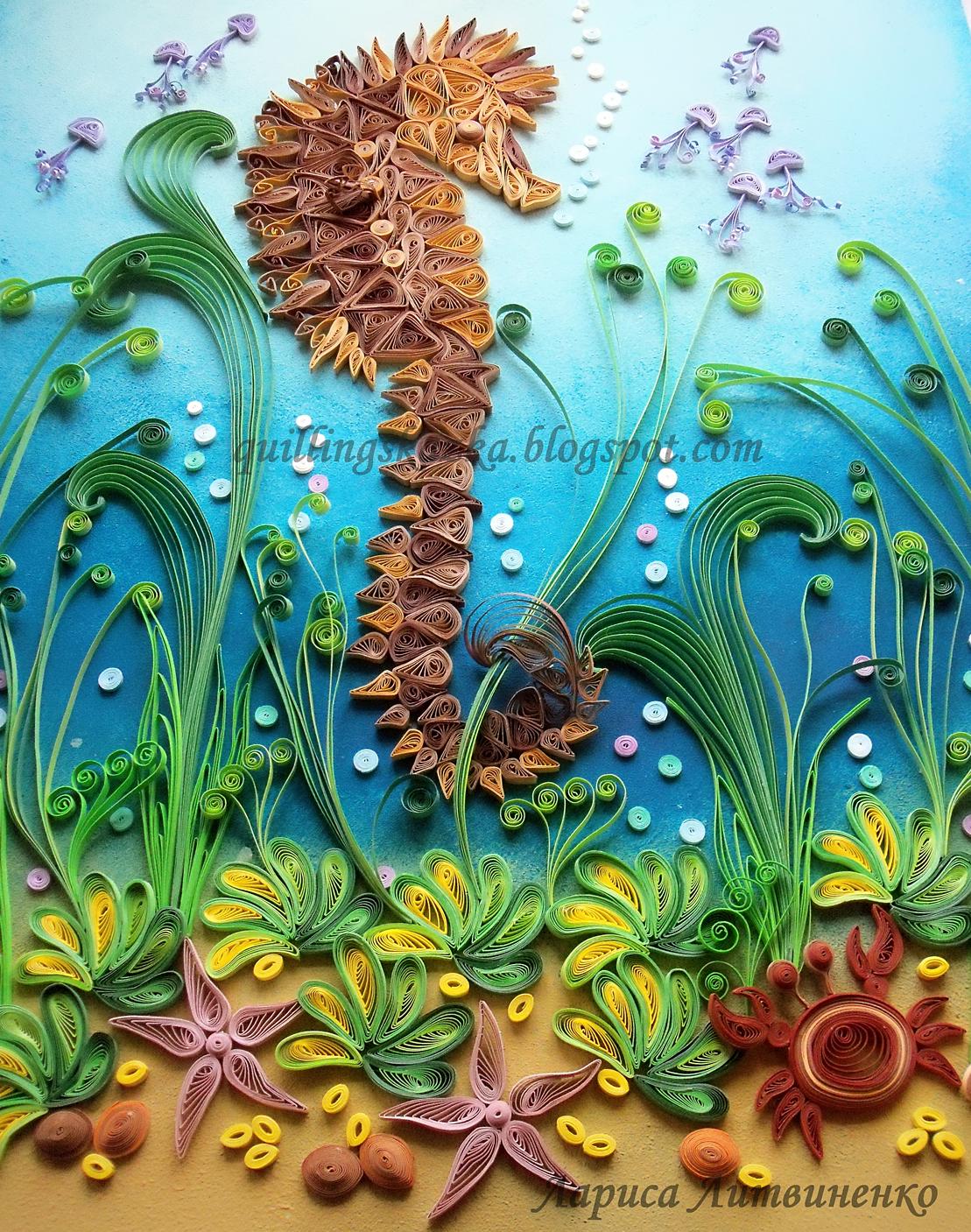 Объемная поделка на тему море