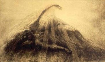 Crayon, craie noire et fusains sur papier de Jean Delville