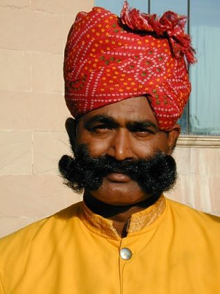 Funny INDIAN WITH LONG MUSTACH