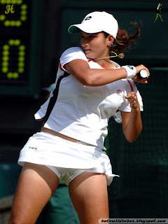 Sania Mirza upskirt panty and thigh exposed