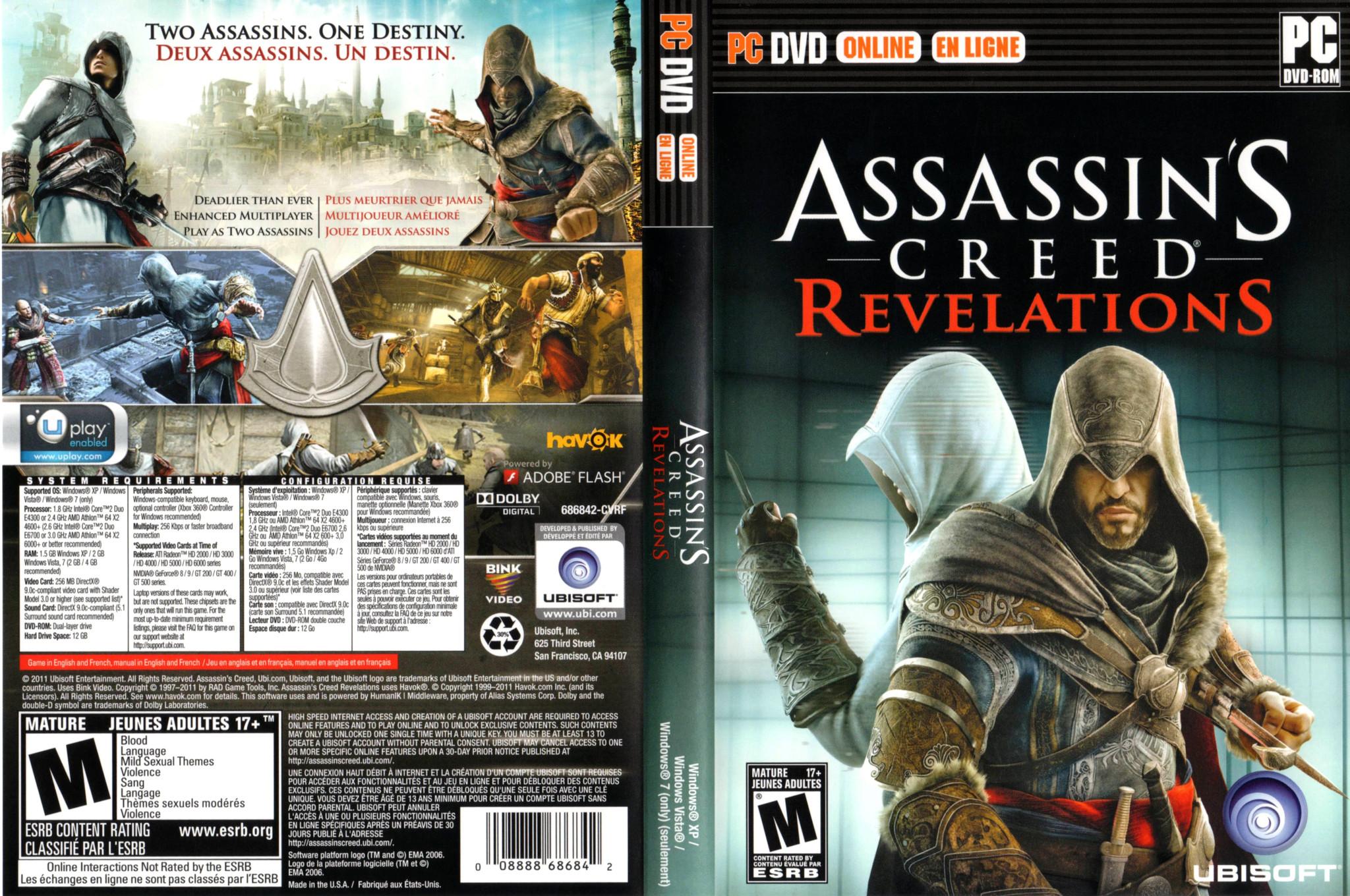 Capa Assassins Creed Revelations PC