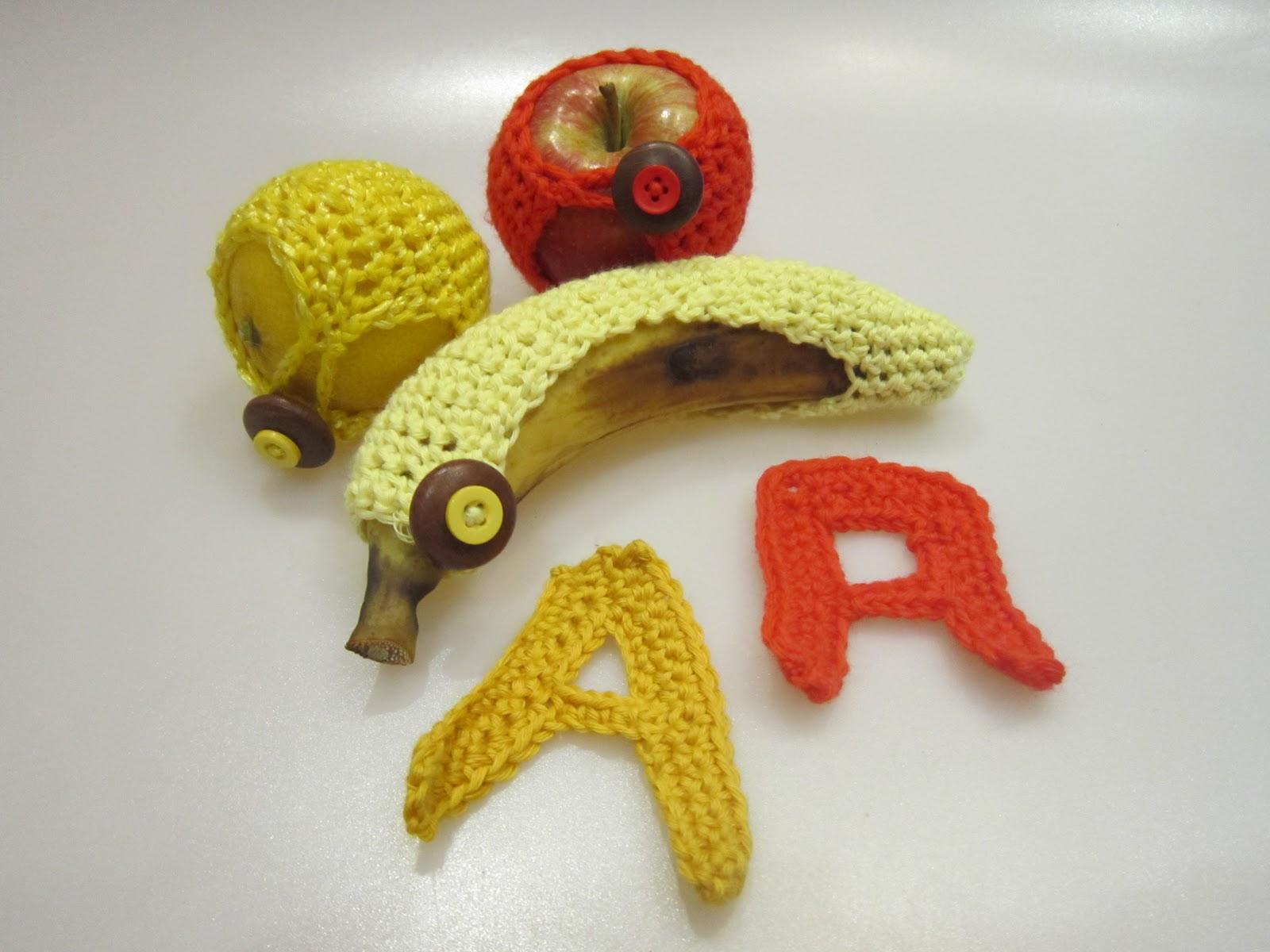 Frutas con ganchillo