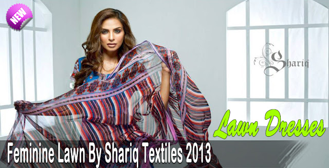 Feminine By Shariq Textiles Lawn Dresses Summer Collection 2013