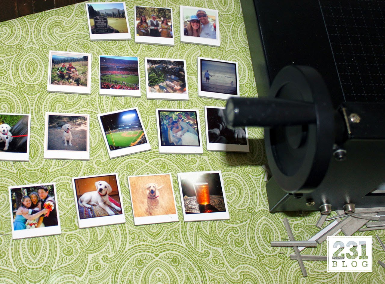 trimming diy instagram magnets