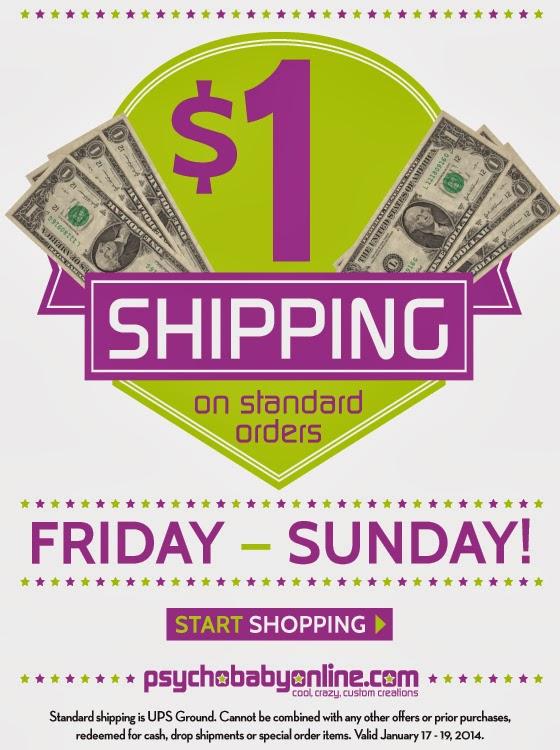 $1 Shipping at Psychobaby