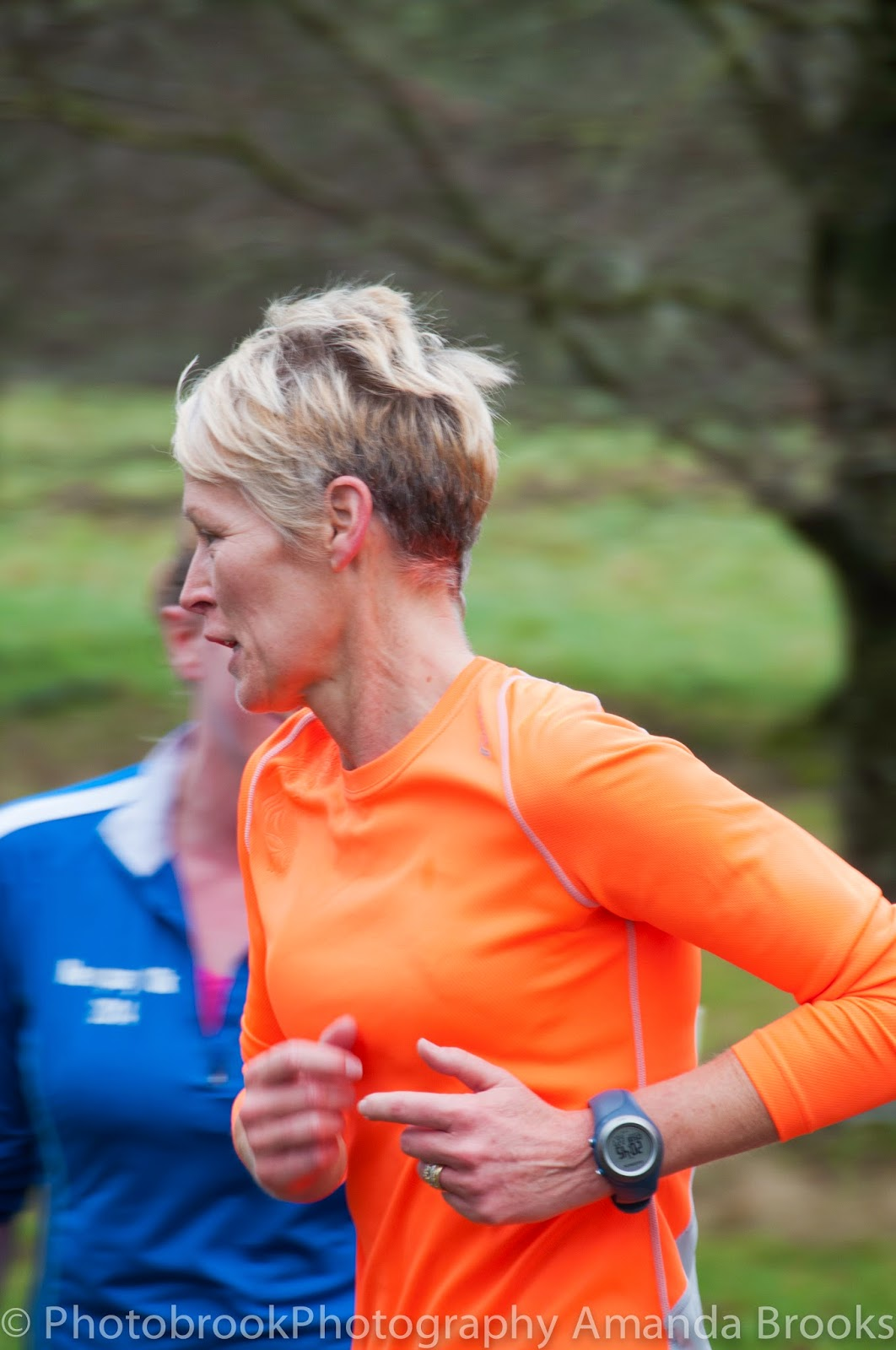 Runners at Lanhydrock park run in Cornwall