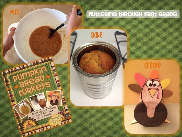 http://www.teacherspayteachers.com/Product/Thanksgiving-Pumpkin-Bread-Turkeys-A-Class-Baking-Writing-Project-391563