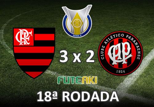 Veja o resumo da partida com os gols e melhores momentos de Flamengo 3x2 Atlético-PR pela 18ª rodada do Brasileirão 2015