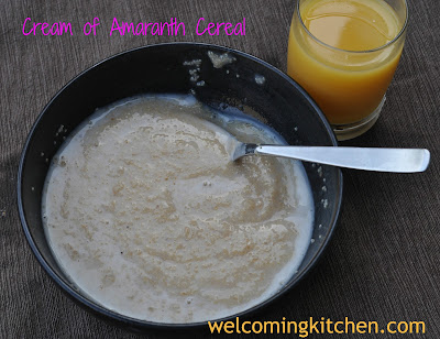 Gluten-free, Vegan Cream of Amaranth Cereal