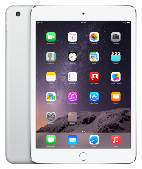 The iPad Mini 3 in Silver
