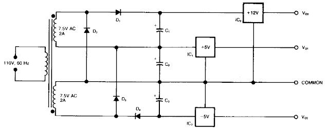 3- Rail Power supply Circuit Diagram