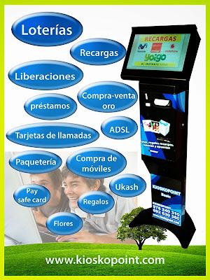 maquinas de loterias kioskopoint, maquinas expendedoras de loterias