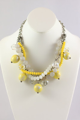 grayling, fashion jewelry, yellow necklace, statement necklace