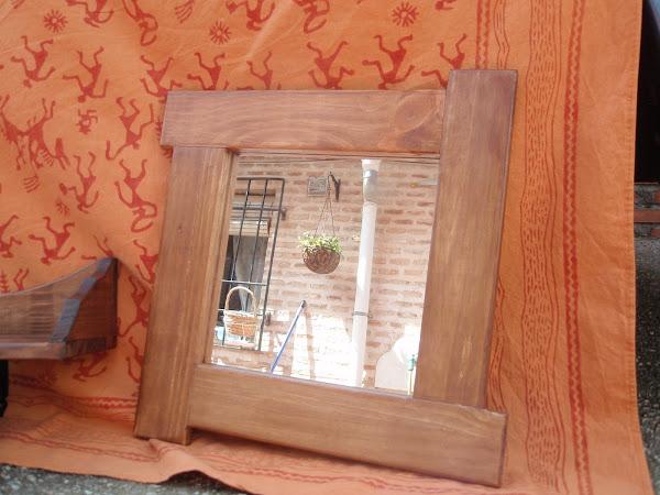 Espejos hacer bricolaje es for Espejos con marco de madera decorados