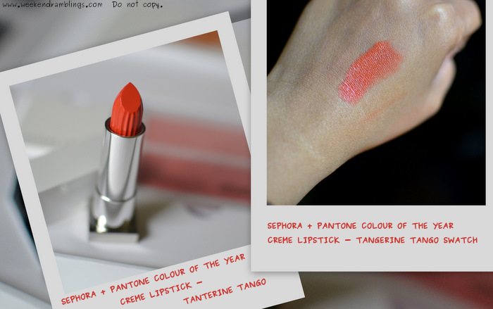 Sephora Pantone Universe Colour of the Year Collection - Tangerine Tango Cream Lipstick