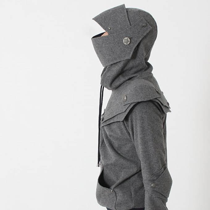 hoodie berbentuk baju perisai