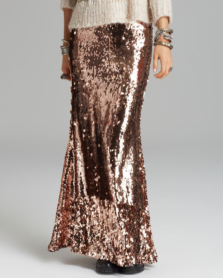 fashion inspiration sparkle sequin maxi skirt cool