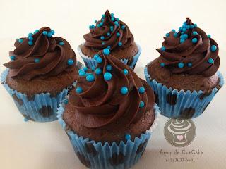 Amor De Cupcake Azul E Marrom Marrom E Azul