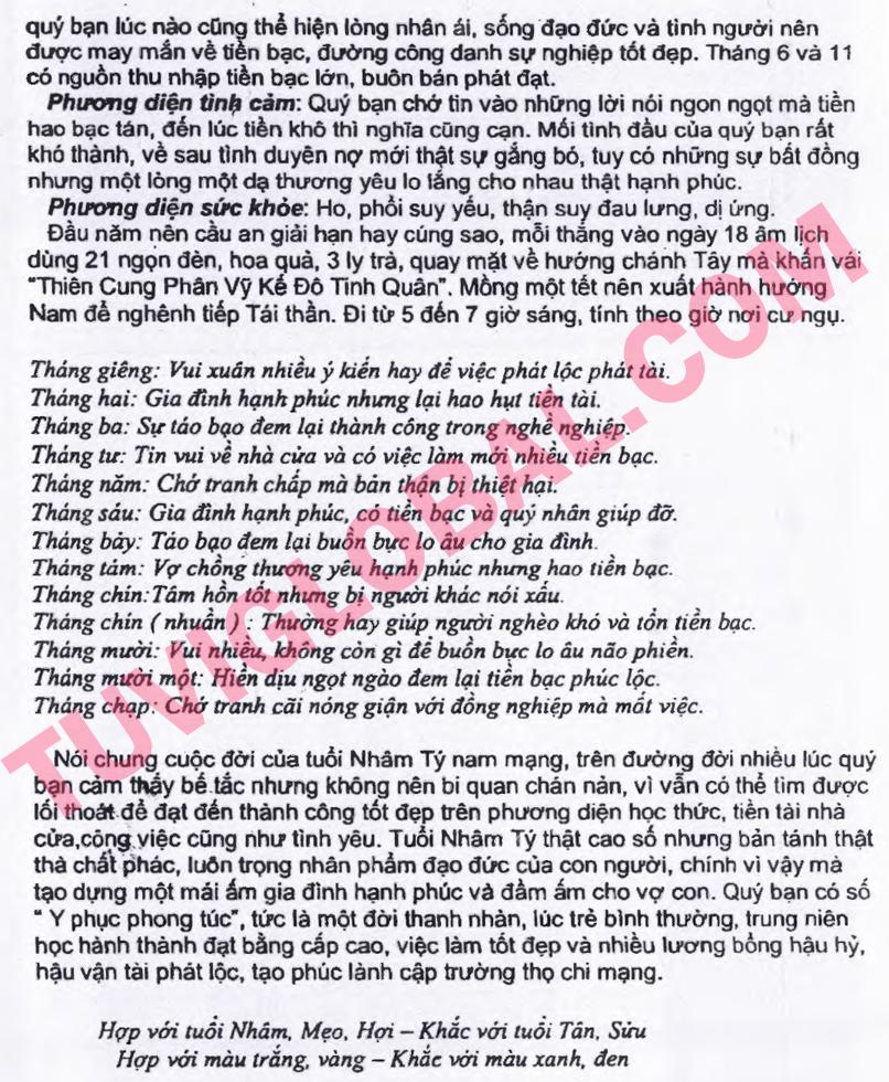 Xem tử vi Nhâm Tý tuổi nam mạng năm 2014 Giáp Ngọ