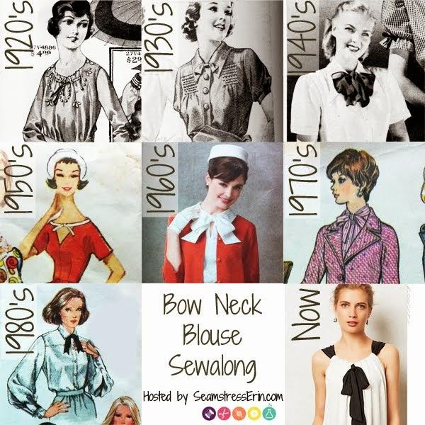 Bow neck blouse sewalong