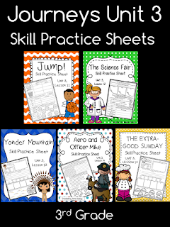 https://www.teacherspayteachers.com/Product/Journeys-Unit-3-Third-Grade-Skill-Practice-Sheets-1965380