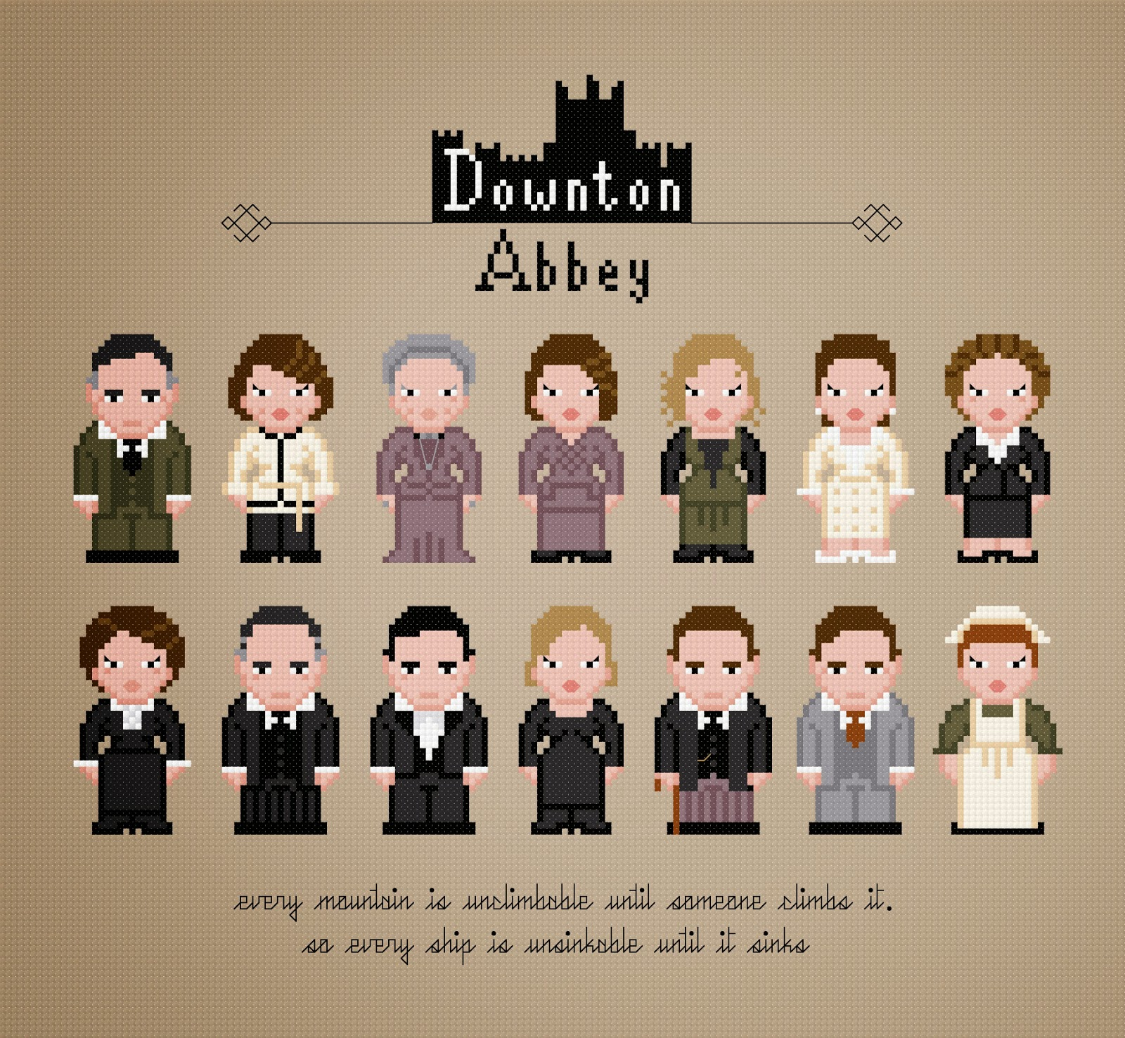 Downton Abbey - Cross Stitch PDF Pattern Download