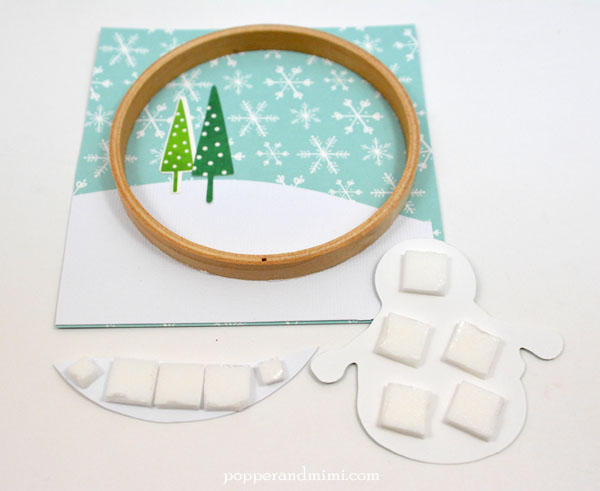 Embroidery Hoop Snow Globe Shaker Ornament Tutorial