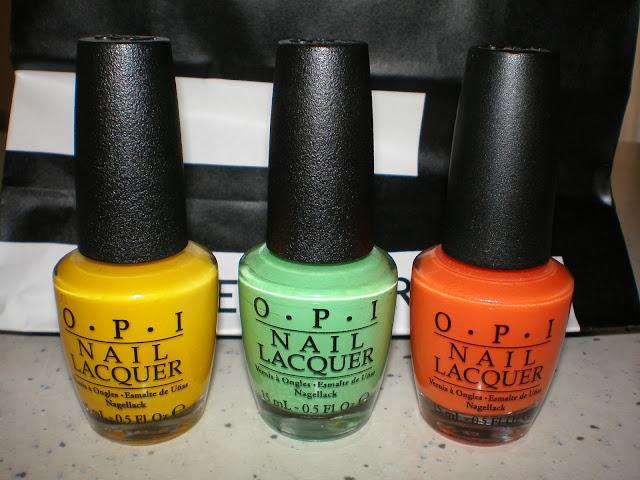 O.P.I. Neon Colors