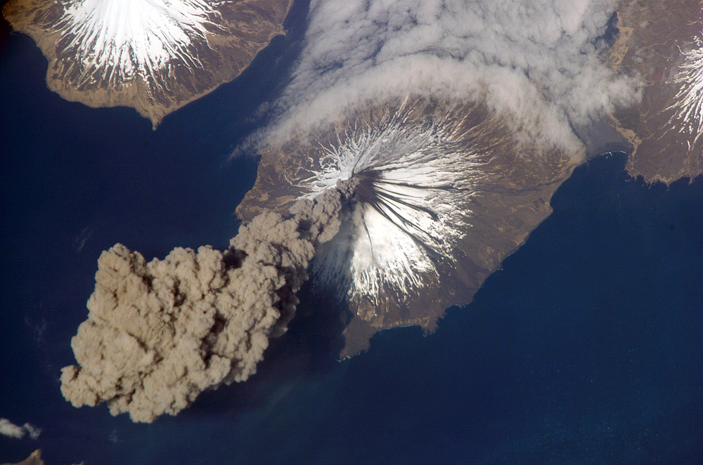 Scientists raise the threat level of Alaska's Cleveland Volcano from yellow to orange after a...