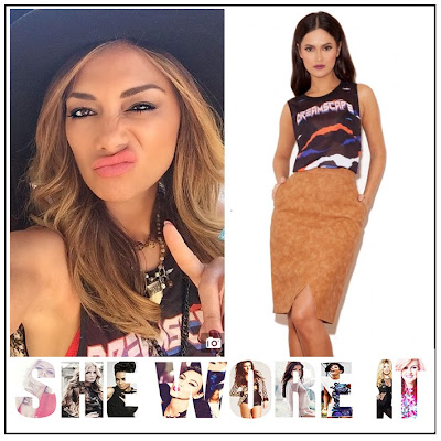 Black, Blue, Bright, Burnout, Celebrity Fashion, Celebrity Style, Cream, Graphic Print, House Of CB, Jersey, Nicole Scherzinger, Red, Sleeveless, Slogan Print, T-shirt,