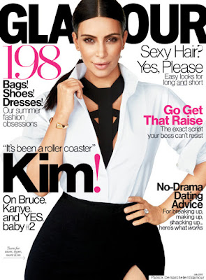 Kim Kardashian talks pregnancy with Glamour magazine.