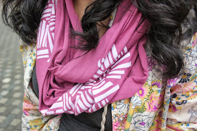 Pink Summer Infinity Scarf