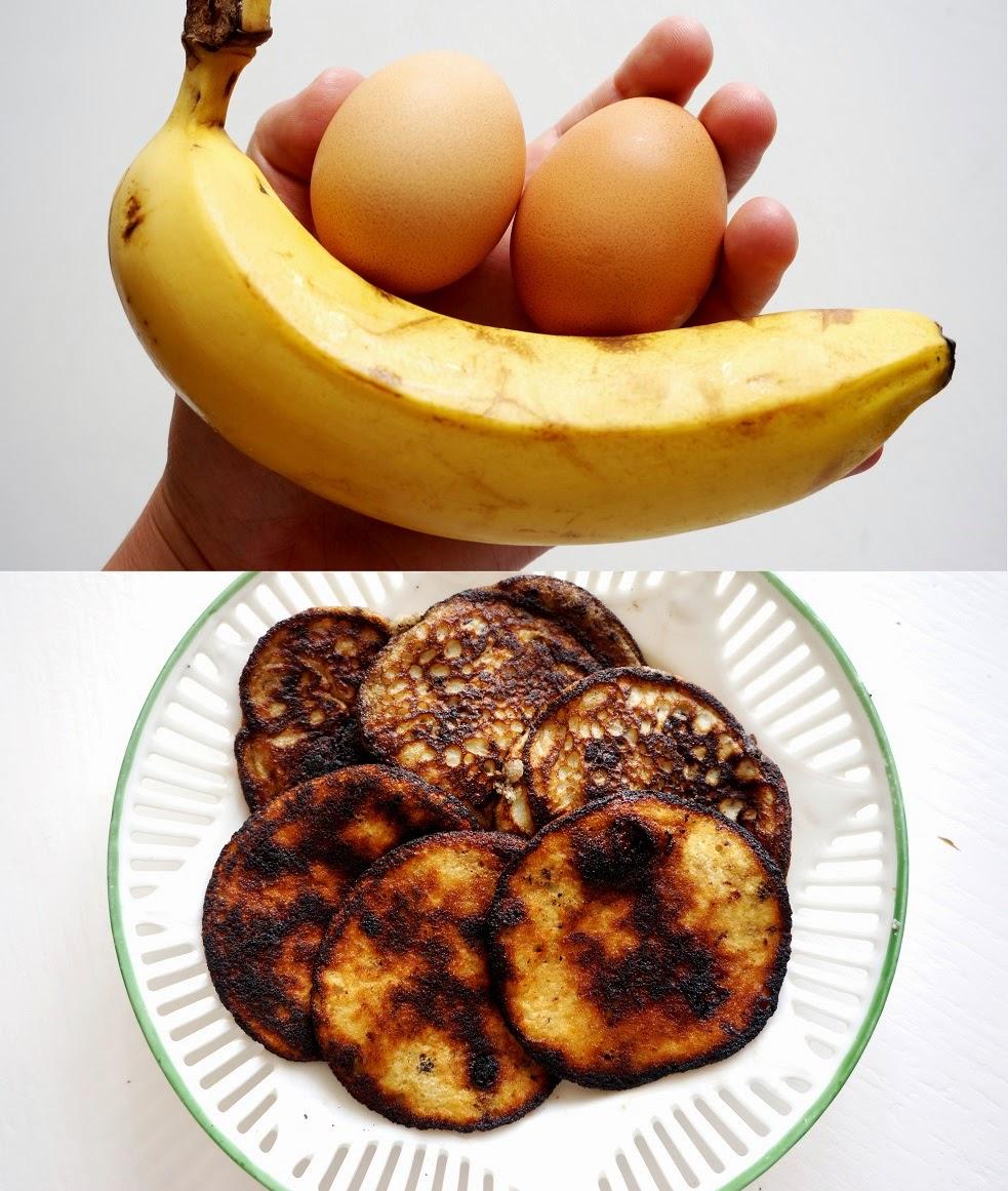 pannkakor med banan och ägg