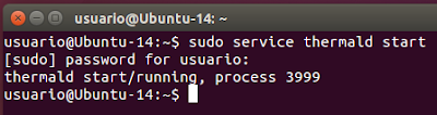 sudo service thermald start
