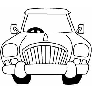 Front Cartoon Car