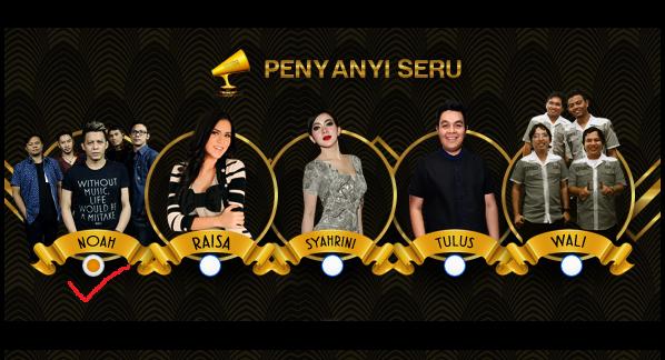 Vote @NOAH_ID sebagai Penyanyi Seru di Global Seru Awards 2015 #GSA2015