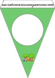 Banderines para imprimir gratis de  Winnie de Pooh y sus amigos.